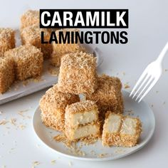 We've taken two Aussie cult favourites - Caramilk chocolate and lamingtons - and transformed into the ultimate sweet treat. Sweet Recipes, Cake Recipes, Dessert Recipes, Lamingtons Recipe, Lamington Cake Recipe, Australian Food, Australian Party, Yummy Food, Tasty