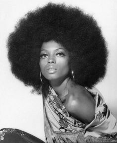 afro hairstyles for black women | 1970 Diana Ross • Years 70's vintage afro fashion music show