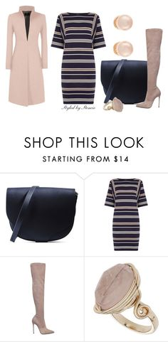 """""""NYC"""" by stencie on Polyvore featuring Sophie Hulme, Warehouse, Le Silla, Topshop, Kenneth Jay Lane, women's clothing, women's fashion, women, female and woman"""