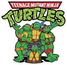 "Amazon.com : Teenage Mutant Ninja Turtles Cartoon Vinyl Sticker Decal 5""x5"" Car Bumper : Sports & Outdoors"