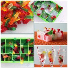 Cambia los hielos con las gomitas favoritas de tus hij@s. Snack Recipes, Snacks, Cube, Tray, Breakfast, Food, Halloween, Google, Ideas