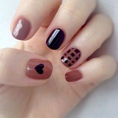 In seek out some nail designs and some ideas for your nails? Listed here is our set of must-try coffin acrylic nails for modern women. Nails Polish, Gel Nails, Acrylic Nails, Heart Nail Designs, Nailart, Short Nails Art, Round Nails, Heart Nails, Colorful Nails
