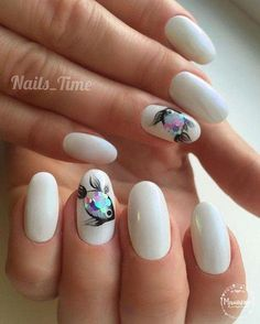 30 Fish Nail Art Ideas which is the trending manicure design of 2019 30 Fish Nail Art Ideas which is the trending manicure design of Nail Art is the right now. Especially in the summer of this Gold Nail Art, Cute Nail Art, Acrylic Nail Art, Nail Art Diy, Cute Nails, My Nails, Fish Nail Art, Fish Nails, Fish Art