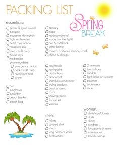 A BEAUTIFUL LITTLE LIFE: {travel in Style} SPRING BREAK packing list