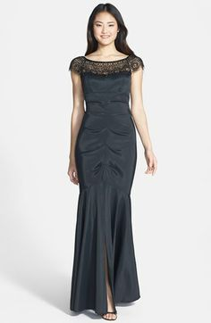 Xscape Embellished Off Shoulder Ruched Taffeta Gown available at #Nordstrom