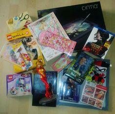 Some of the gifts that I've receive :D  yeahhh #harleyquinn #asuka #sakura #bettercallsaul #hungergames #wall-e #lego #cintiq #mulan