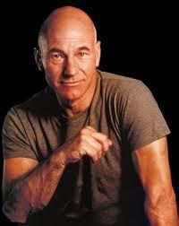 Patrick Stewart - mon capitaine..Saw him in some George Bernard Shaw thing years ago on the tele ??The Devils Advocate?? Anywho who cares John-luke Picard had me at This is The Starship Enterprise>>and Im not even a sci-fi geek!!