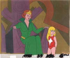 HE-MAN Masters of the universe Marlena Original Production Animation Art Cel by by CharlesScottGallery on Etsy
