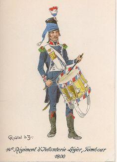 French; 14th Light Infantry, Drummer, 1800