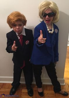Hillary Clinton and Donald Trump Kids Halloween Costume  sc 1 st  Pinterest & Be #PowerCouple Hillary and Bill Clinton with These Costumes for ...