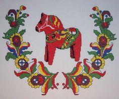 Dala Horse Swedish Folkart by ladybugdesigns1995 on Etsy, $30.00