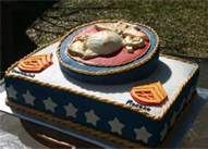 marine corp cake- this would be so cool to make when danny gets promoted again. Idk if I'm that skilled though