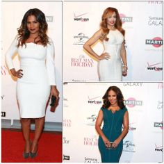 Some of the cast of The Best Man Holiday came out to New York City for a screening of the film. All ladies looked great with their 'dos. Nia Long looked stunning with a middle part spiralled style with dipped ends; Melissa De Souza also wowed with this off centred swoop of waves while Sanaa Lathan went for a pretty shoulder length layered look. Both Nia and Sanaa's looks can be achieved with a U -Part wig and Melissa's with a lace closure wig. www.fabluxhsirandwigs.com 12th November 2013