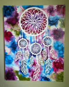 Crayon art dream catcher. by kaylaskraftz on Etsy