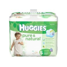 Fits toddlers over 27 lbs - Huggies Pure & Natural Diapers  #Huggies #HealthAndBeauty