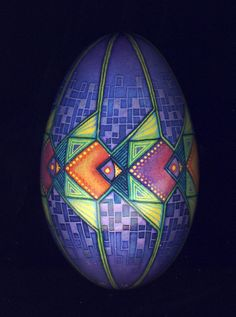 goose egg pisanki/pysanky  batik egg by MarkMalachowski on Etsy, $60.00