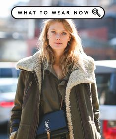 Layer Coats With Purses- Styling Trick | We've got a styling trick that makes wearing winter coats a whole lot less annoying. Click to see what you can do. #refinery29 http://www.refinery29.com/bags-on-inside
