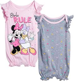 Minnie Mouse, Pink Minnie, Toddler Outfits, Girl Outfits, Baby Girl Romper, Baby Girls, Disney Outfits, Disney Clothes, Baby Girl One Pieces