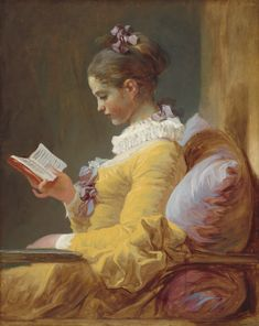 Young Girl Reading (c. 1776) by Jean-Honoré Fragonard - Google Search