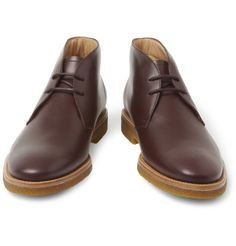 TOD'S NO_CODE CREPE-SOLE LEATHER DESERT BOOTS $675