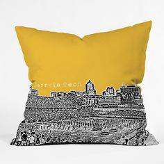 Georgia Tech Yellow Throw Pillow