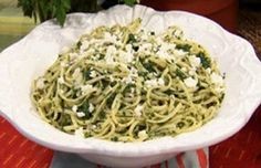 Spaghetti and Spinach Pesto - What's Cooking? USDA Mixing Bowl #MyPlate