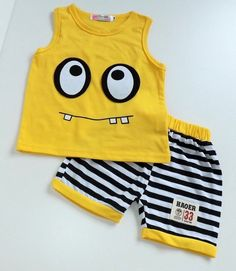 Boys Summer Outfits, Baby Boy Outfits, Kids Outfits, Baby Boy T Shirt, Baby Shirts, Baby Set, Short Bebe, Cute Sleepwear, Cool Baby Clothes