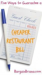 Five Ways to Guarantee a Cheaper Restaurant Bill :: There are a ton of ways to guarantee a cheaper restaurant bill. The key is to flexible and look for opportunities to save.