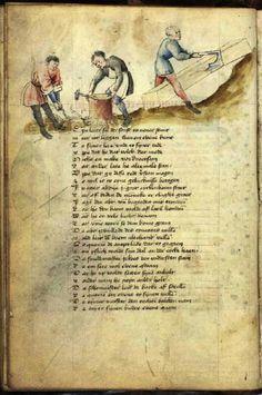 GKS 79 2º: Speculum humanae salvationis 9 verso Ca 1430 Tyskland