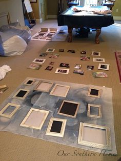 Festival frisuren Painting Picture Frames Annie Sloan Chalk Paint - Our Southern Home # Painted Picture Frames, Black Picture Frames, Picture Walls, Painting Tips, Painting Frames, Chalk Painting, Painting Furniture, Chalk Paint Projects, Diy Projects