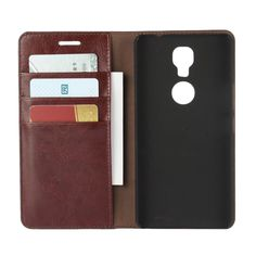 """Deluxe Wallet Case for GiONEE M6 Plus 6.0"""" Genuine Cow Leather Case Gionee M6 5.5"""" Flip Cover Phone Bags"""