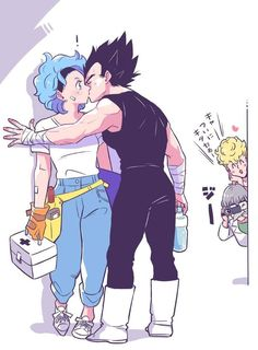 Vegeta and bulma vegebul Dragon Ball Image, Dragon Ball Gt, Mini Comic, Conan, Anime Love, Anime Manga, Anime Characters, Kai, Character Design