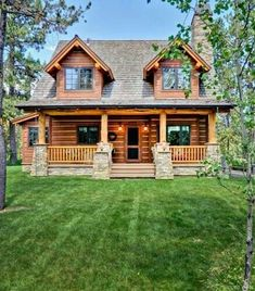 75 Best Log Cabin Homes Plans Design Ideas. Search for your dream log home floor plan with hundreds of free house plans right at your fingertips. Looking for a small log cabin floor plan? Log Cabin Living, Log Cabin Homes, Log Cabins, Log Cabin Exterior, Cabin Style Homes, Modular Log Homes, Diy Log Cabin, Wooden Cabins, Cozy Cabin