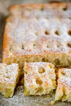 Ciasto jogurtowe z rabarbarem Polish Desserts, Polish Recipes, No Bake Desserts, Polish Food, Cake Recipes, Dessert Recipes, Rhubarb Cake, Sandwich Cake, Rhubarb Recipes