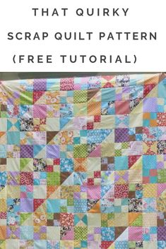 The quilt has a great vintage look that will work with any type of scraps. This quilt is also pre-cut friendly! Have extra charm squares and jelly roll strips? Jellyroll Quilts, Lap Quilts, Scrappy Quilts, Quilt Blocks, Jelly Roll Quilt Patterns, Scrap Quilt Patterns, Quilting Ideas, Half Square Triangles, Squares