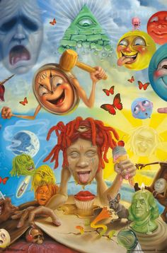 Trends International Trippie Redd-Art Wall Poster, x Multi Cartoon Wallpaper, Cover Wallpaper, Trippy Wallpaper, Rap Wallpaper, Rapper Wallpaper Iphone, Trippie Redd, Bedroom Wall Collage, Photo Wall Collage, Picture Wall