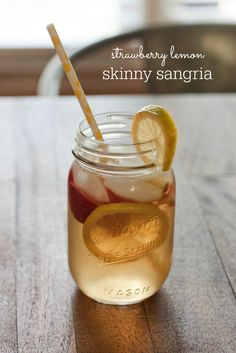 Strawberry Lemon Skinny Sangria