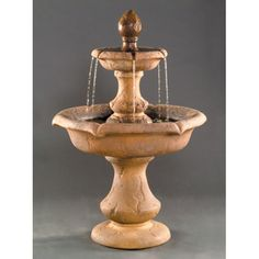Our Verona Fountain makes a beautiful addition to any garden. This particular fountain is featured in Rustico. See chart below for available finishes. This fountain will be custom made for you when ordered, including your color. Garden Water Fountains, Stone Fountains, Water Garden, Outdoor Fountains, Tiered Garden, Stone Planters, Underwater Lights, Set Up An Appointment, Water Walls