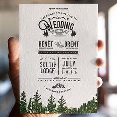 Custom Wedding Stationery Letterpress Studio by WideEyesPaperCo