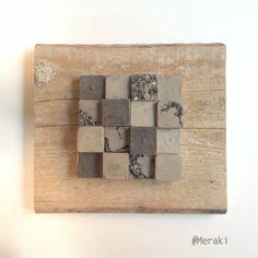 My Meraki | Reperti urbani 05 | Cemento, scarti di pelle, scarti di vetro, ghiaia, legno da cassero.