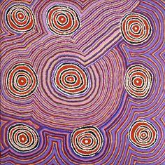 Jeanie Lewis NAPANGARDI_Mina Mina Jukurrpa - Ngalyipi #painting #aboriginal #aborigene #contemporain Sand Painting, Encaustic Painting, Art Occidental, Aboriginal Painting, Aboriginal Culture, Galerie D'art, Painted Leaves, Unique Animals, Indigenous Art