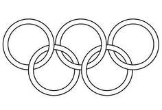 Coloriage Jeux Olympiques: les anneaux olympiques - Momes.net