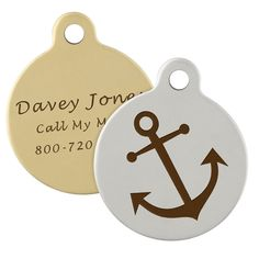 It's anchors away and full speed ahead with the dogIDs Signature Anchor Dog ID Tag. Perfect for boat dogs and swimmers. Shop for your First Mate today!