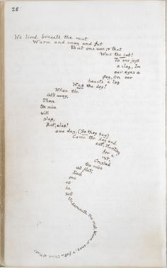 larmoyante:    Original manuscript for Alice in Wonderland hand written and illustrated by Lewis Carroll, 1862