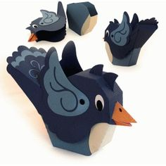 3d birdie box