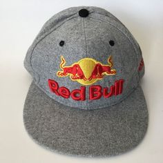 innovative design e20d6 8cefd Red Bull Hat New Era 59Fifty 7 3 8 Athlete Grey Red Yellow Embroidery  Redbull. Red Bull HatsNew ...