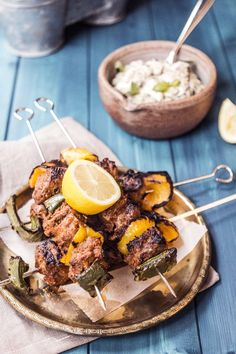 Lamb Kebabs with Homemade Baba Ganoush