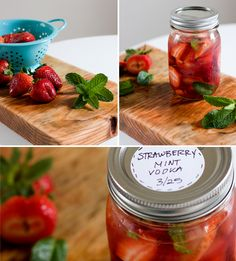 D.I.Y | Homemade Infused Vodka Strawberry Mint Lemon Ginger Pomegranate |