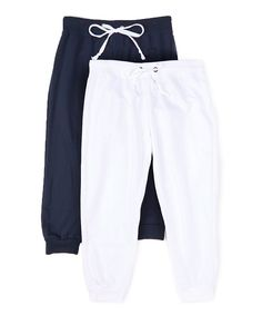 Coco Limon White & Navy Capri Joggers Set - Plus Too Kicks, Capri, Sweatpants, Comfy, Leggings, Navy, Shorts, My Style, Womens Fashion