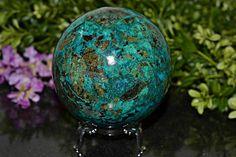 Amazing Chrysocolla Sphere Chrysocolla Sphere 86 MM Natural